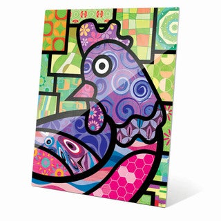 'Quilted Purple Chicken' Acrylic Wall Art