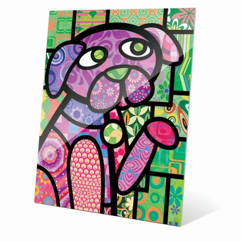 'Quilted Purple Puppy' Wall Art on Acrylic