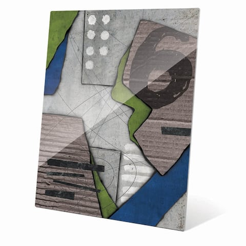 Chaos Collage' Glass Wall Art