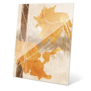 'Merigold Splatform' Glass Wall Art