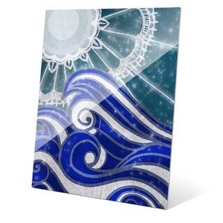 'Lace Moon Silk Sky' Glass Wall Art