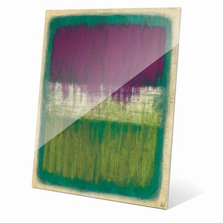 'Purple And Yellow Transitions' Glass Wall Art