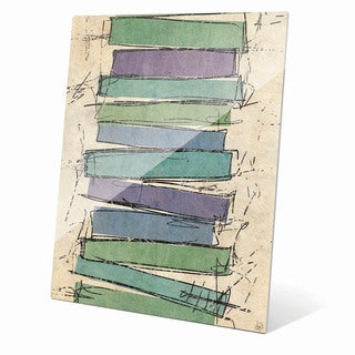 Sketch Rectangles' Acrylic Abstract Wall Art