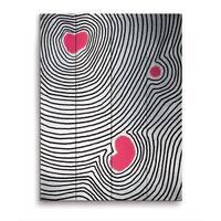 'Pink Echoing Heart' Wooden Wall Art