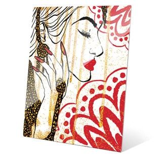 Red and Gold Glamor' Glass Wall Art