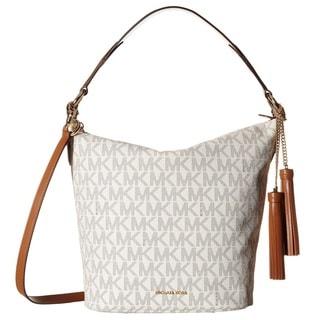 Michael Kors Elana Large Vanilla Logo Shoulder Handbag