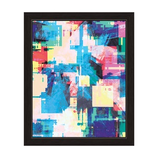 Big Glitch' Framed Canvas Wall Art