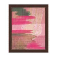 'Cerise Visor' Framed Canvas Wall Art
