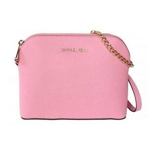 Michael Kors Cindy Misty Rose Large Dome Crossbody Handbag