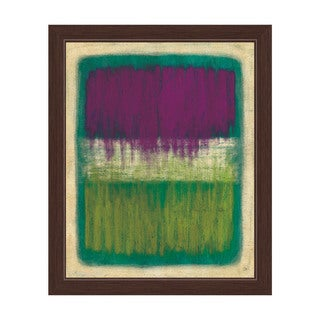 'Purple And Yellow Transitions' Framed Canvas Wall Art