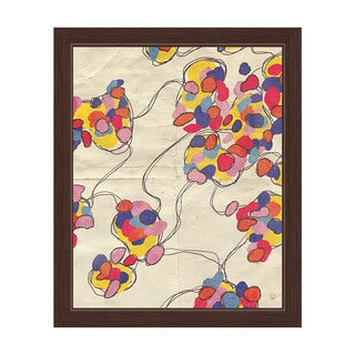 Yellow Coagulation' Framed Canvas Wall Art