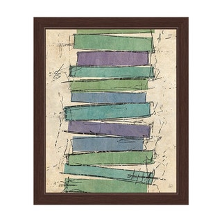 Sketch Rectangles' Canvas Framed Wall Art