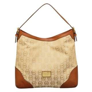 Michael Kors Large Millbrook Beige/ Camel/ Luggage Shoulder Handbag