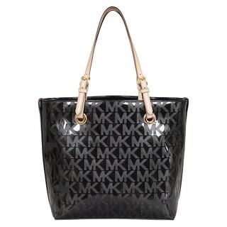 Michael Kors Signature Black Leather Grab Bag