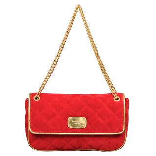 Michael Kors Small Chain Item Red Quilted Shoulder Flap Handbag