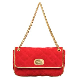 Michael Kors Small Chain Item Red Quilted Shoulder Flap Handbag|https://ak1.ostkcdn.com/images/products/12386541/P19208848.jpg?impolicy=medium