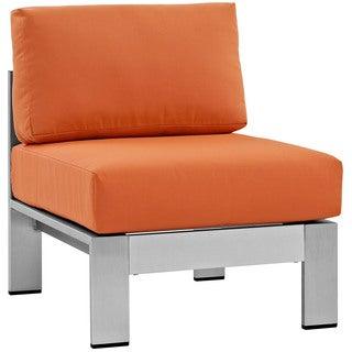 Beach Armless Outdoor Patio Aluminum Chair