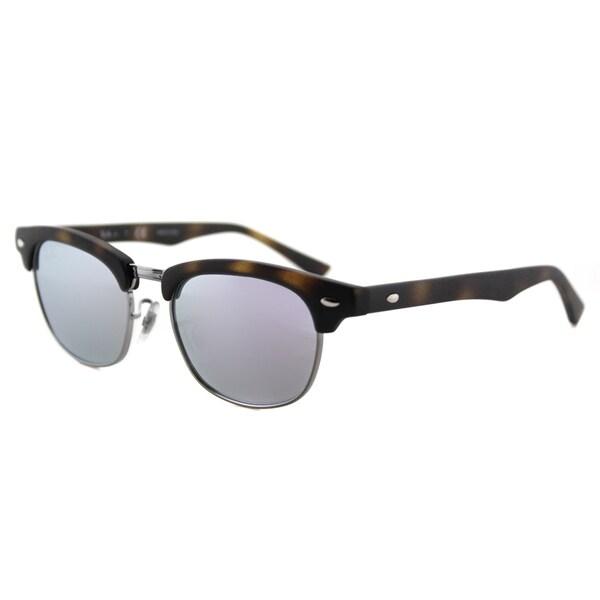 5c78e95decf Ray-Ban Junior RJ 9050 70184V Clubmaster Matte Havana Purple Flash Mirror  Lens Plastic Sunglasses