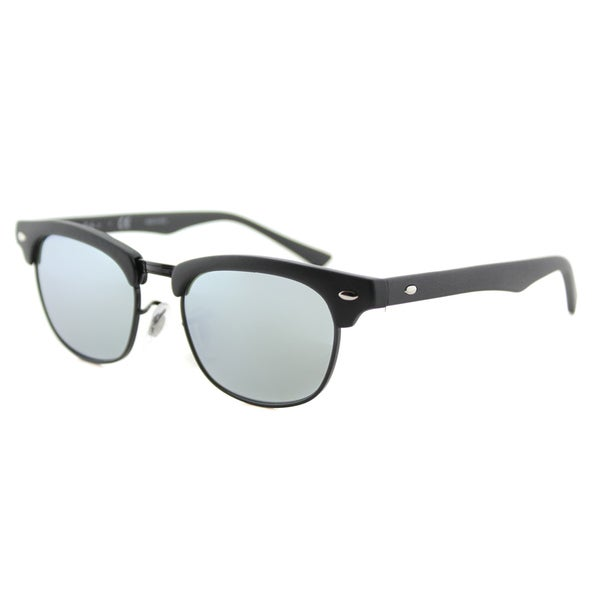 1336d27cec2 Ray-Ban Junior RJ 9050 100S30 Clubmaster Matte Black Plastic Sunglasses  With Grey Flash Mirror