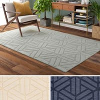 Hand-Loomed Rhode Wool Area Rug - 8' x 11'