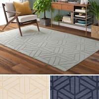 Hand-Loomed Rhode Wool Area Rug - 5' x 8'