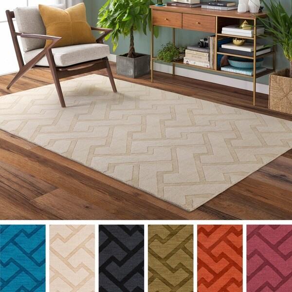 Hand-Loomed Ridgeway Wool Rug (2' x 3')