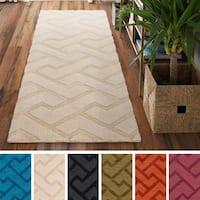 Hand-Loomed Ridgeway Wool Area Rug (2'6 x 8')