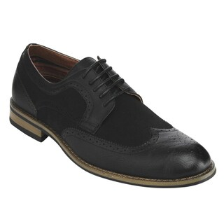 Ferro Aldo AC97 Men's Lace-up Perforated Brogue Wingtip Dress Oxfords