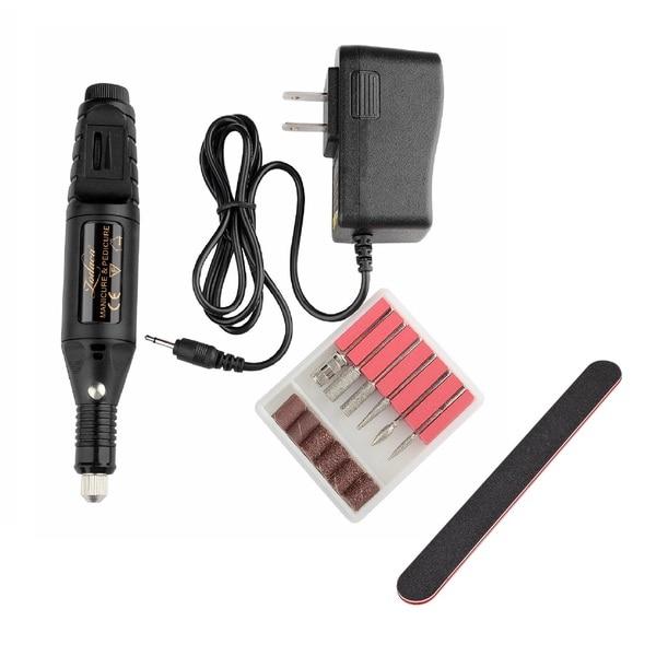 51f59e7255f Zodaca Black 6-bit Set Pen Shape Electric Nail Art Manicure Pedicure Drill  Machine