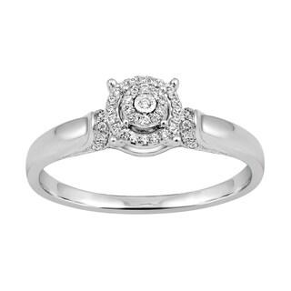 Sterling Silver 1/6ct TDW Diamond Fashion Ring (I-J, I2-I3)