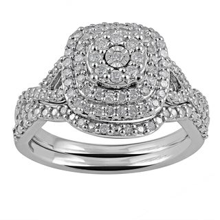 Sterling Silver 1/2ct TDW Diamond Bridal Set