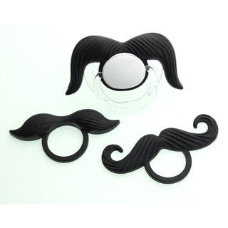 Crystal Dream Stylish 3 Interchangeable MyStash Silicone Mustaches with Pacifier
