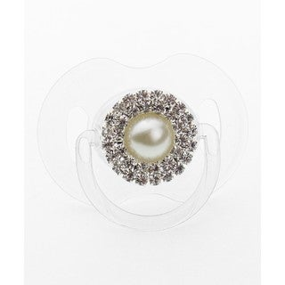 Crystal Dream Luxury Silver Rhinestone and Pearl Pacifier