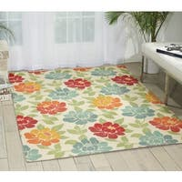 Nourison Mirage Ivory Area Rug - 2'6 x 4'