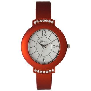 Olivia Pratt Women's Fancy Rhinestone-accented Bangle Watch