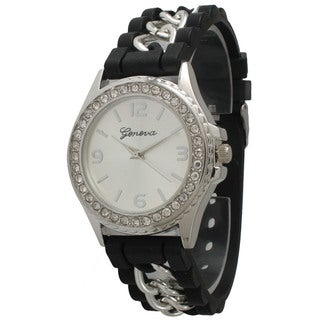 Olivia Pratt Women's Glamorous Rhinestone Accented Watch
