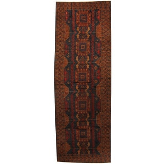 Herat Oriental Afghan Hand-knotted 1960s Semi-antique Tribal Balouchi Wool Runner (4'3 x 11'10)