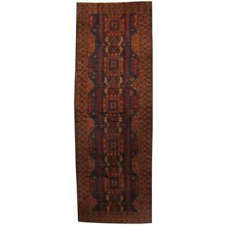 Handmade Herat Oriental Afghan 1960s Semi-antique Tribal Balouchi Wool Runner - 4'3 x 11'10 (Afghanistan)