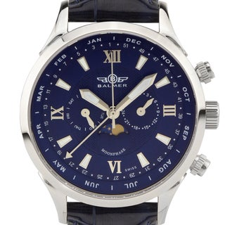 Balmer Swiss Made Phantom II men's Complete Calendar dress watch. Day/Date/Week/Month/Moonphase, Sapphire