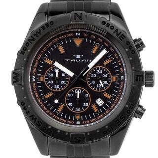 Tavan Between Wind & Water Men's quartz chronograph, 24 hour time, steel bracelet