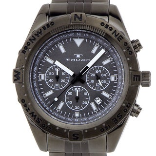 Tavan Between Wind & Water Men's quartz chronograph, 24 hour time, steel bracelet