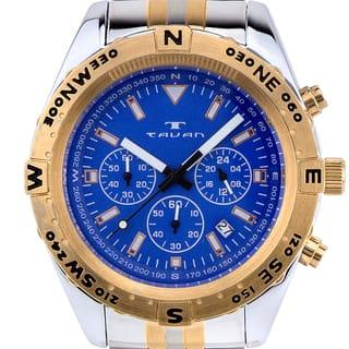 Tavan Between Wind & Water Men's quartz chronograph, 24 hour time, steel bracelet https://ak1.ostkcdn.com/images/products/12388095/P19210069.jpg?impolicy=medium