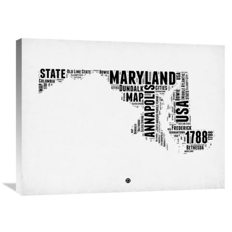 Naxart Studio 'Maryland Word Cloud 2' Stretched Canvas Wall Art