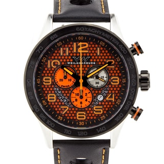 Weil & Harburg Karkin Men's Swiss racing chronograph, Sapphire, Superluminova, Honeycomb plate over main dial