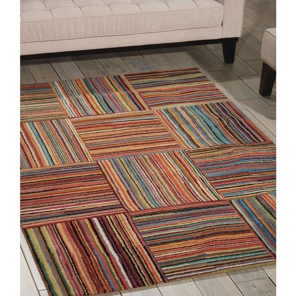 Shop Nourison Aspects Multicolor Area Rug Free Shipping