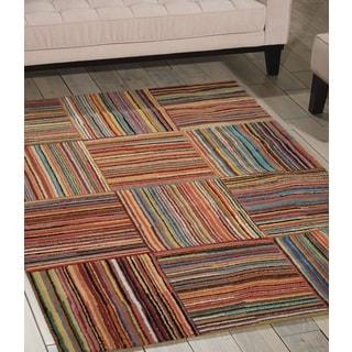 Shop Nourison Aspects Multicolor Area Rug 3 9 Quot X 5 9