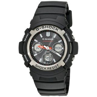 Casio Men's AWGM100-1ACR 'G-Shock Atomic' Analog-Digital Black Resin Watch