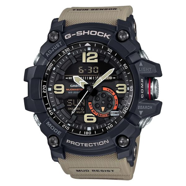 Casio G-Shock Mudmaster Analog/ Digital Watch Tan