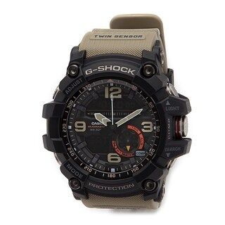 Casio G-Shock Mudmaster Analog/ Digital Watch Tan