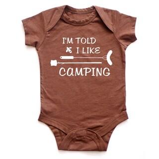 Rocket Bug I'm Told I Like Camping Baby Bodysuit